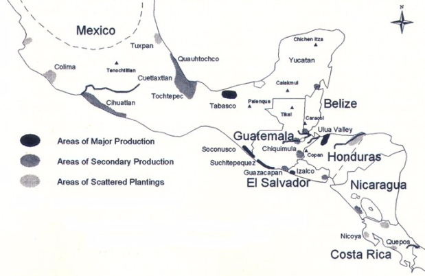 Chocolate map mesoamerica