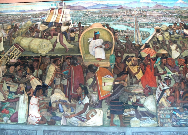 Mercado de Tlatelolco por Diego Rivera