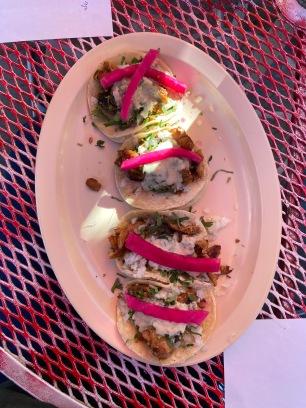 Comida fusion: tacos de shwarma